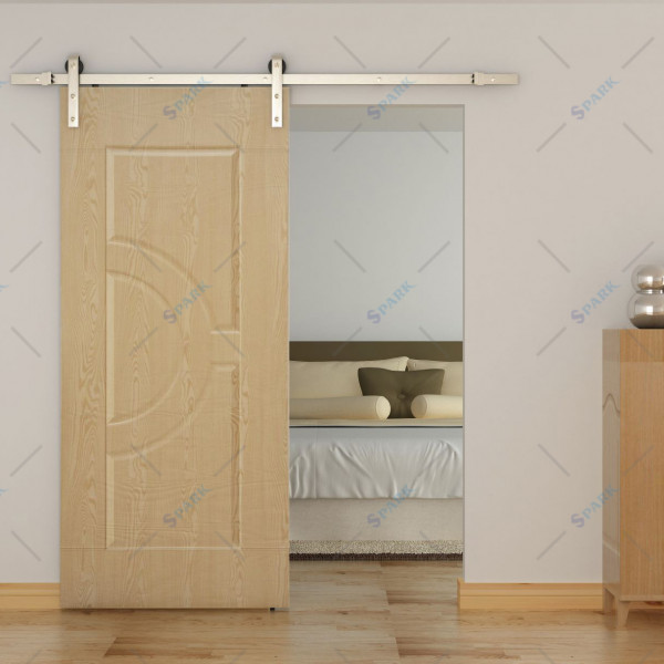 SPK-301SN Barn Door Hardware with satin nickel finish