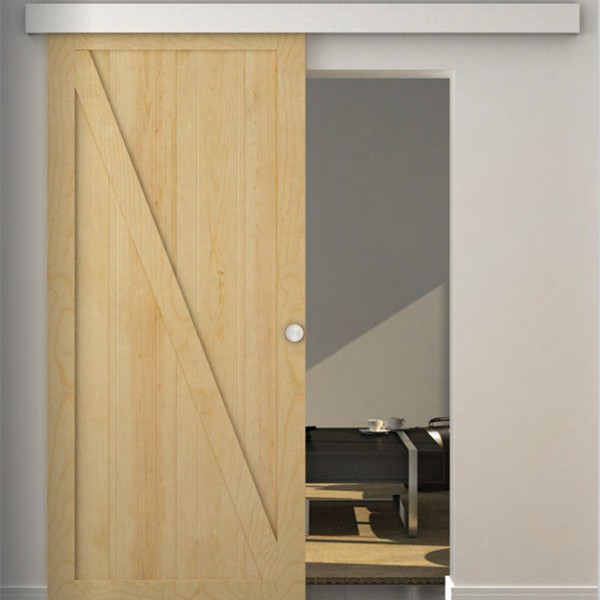 Sliding Barn Door Double Track System For Interior Use